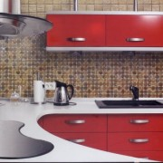 red Kitchen Refurbishment Malaga, Marbella, Mijas, Fuengirola, Benalmadena